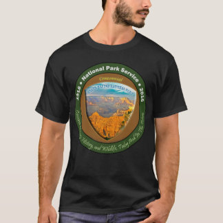 Nationalpark-hundertjähriges Shirt-Schwarz-Grand T-Shirt