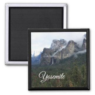 Nationalparks - Yosemite-Magnet Quadratischer Magnet