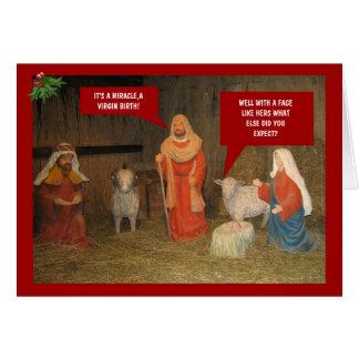 Nativité de mauvais goût carte de vœux