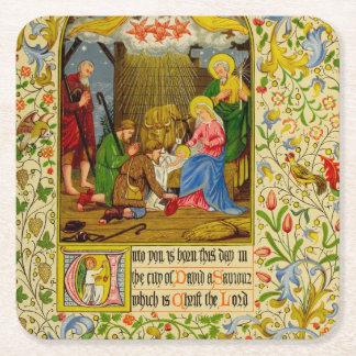 Nativity | an Sie ist dieser Tag geboren Rechteckiger Pappuntersetzer