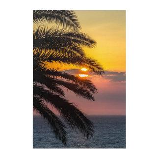 Natur-Acrylwand-Kunst der Sonnenschein-Palmen-drei Acryl Wandkunst