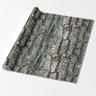 Natur-alte Kiefern-Barke Geschenkpapier