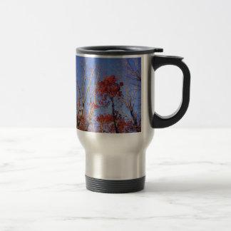 Natur-Baum-Herbst-Burgunder-Blätter Reisebecher