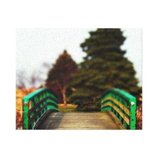 Natur-Brücken-Leinwand-Druck Leinwanddruck