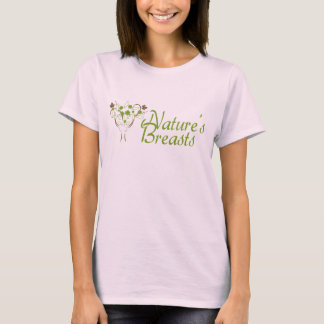 Natur-Brüste: Rosa Notiz:-Damen-Shirt T-Shirt
