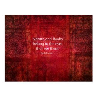 Natur Emilys Bronte und Buchzitat Postkarte