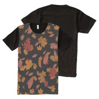 Natur-fallendes Herbst-Blätter auf T-Shirt Mit Komplett Bedruckbarer Vorderseite