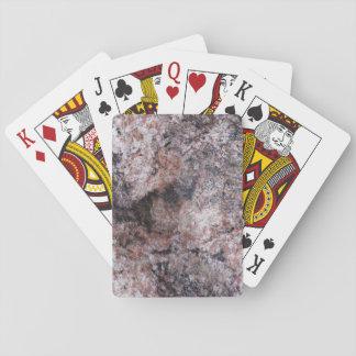 Natur-Felsen-Beschaffenheit Pinkish Spielkarten