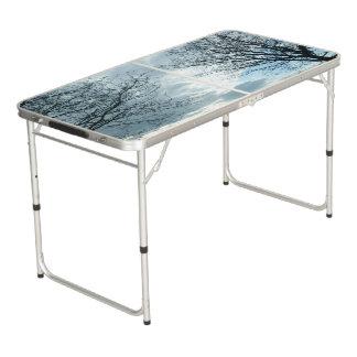 Natur-Heckklappen-Größe Pong Tabelle Beer Pong Tisch