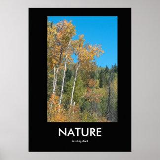 Natur ist ein Sache-inspirierend Plakat