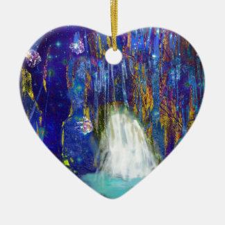 Natur ist Märchen Keramik Herz-Ornament