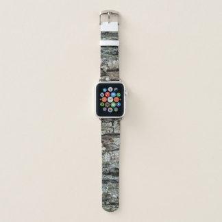 Natur-Kiefer-Barke Apple Watch Armband