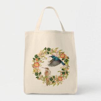 Natur-Liebhaber des Kolibri-BlumenKranz-  Tragetasche