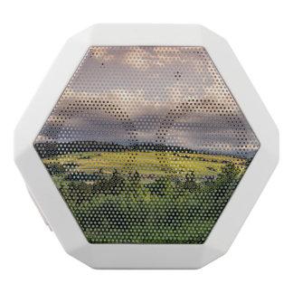Natur-Sonnenuntergang-Hügel-Landschaft in Polen Weiße Bluetooth Lautsprecher