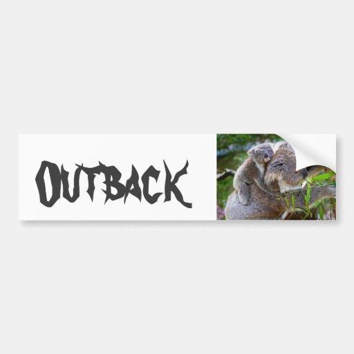 Nature mignonne Aussi de destin d'ours de koala à  Adhésifs Pour Voiture