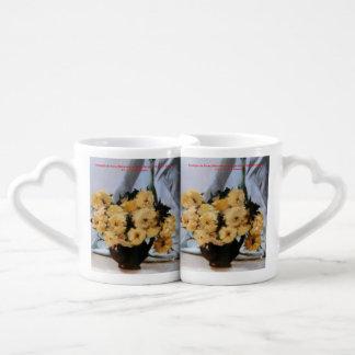 Nature morte de fleurs/Still life of flowers Tasses Duo