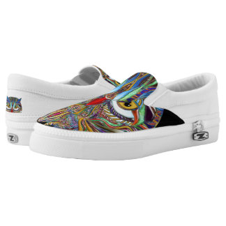 Naturewares Jeweled Eule, Zipz Beleg auf Schuhen Slip-On Sneaker