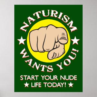 Naturism-Einstellung Poster