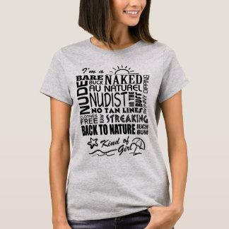 Naturist-/Nudist-Mädchen T-Shirt