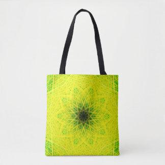 Natürliche grüne Mandala Tasche