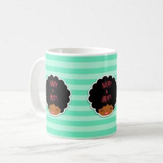 Natürliches Haar der Liebe I! Windel und Kaffeetasse