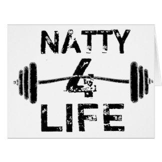 Naty 4 Lebens-Logo-Abnutzung Karte