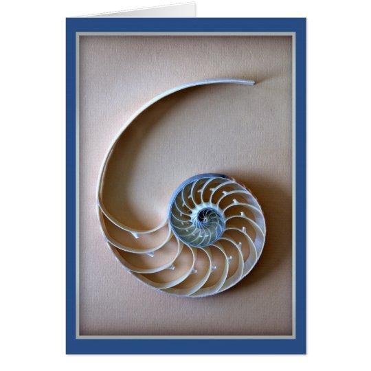 Nautilus-Muschel-Abschnitt Grußkarte
