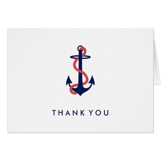 Nautisch danke Anmerkungs-Karten-Marine-Blau-Anker Mitteilungskarte
