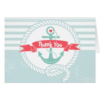 Nautisch danke, mit Anker und Seil zu kardieren Karte