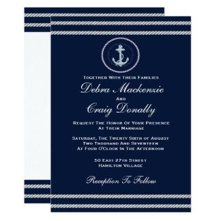 Nautisch - Hochzeits-Einladung 12,7 X 17,8 Cm Einladungskarte