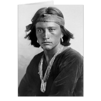 Navajo-Junge Grußkarte