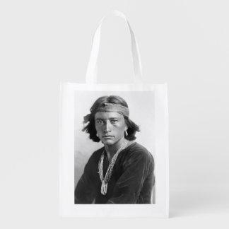 Navajo-Junge - historisches Foto durch Karl E. Wiederverwendbare Einkaufstasche