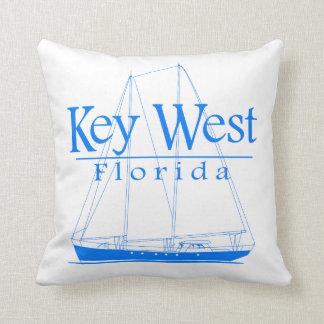 Navigation bleue de Key West Coussin Décoratif