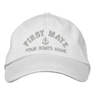Navigation du compagnon de poing d'équipage casquette brodée
