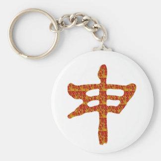 navinJOSHI chinesisches Schriftzeichen goldenes Schlüsselanhänger
