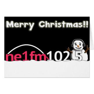 NE1fm offizielle Weihnachtskarte Karte