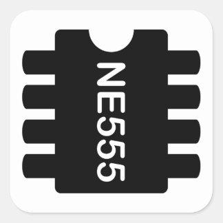 NE-555 QUADRATISCHER AUFKLEBER