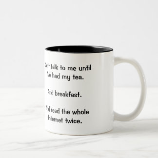 """""""Ne me parlez pas"""" la tasse"""