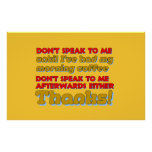 Ne parlez pas posters