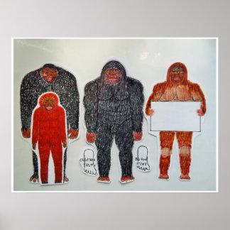 Neanderthal u. 3 Freunde, Poster