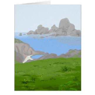 Nebel Avalon der riesigen Anmerkungs-Karte Riesige Grußkarte