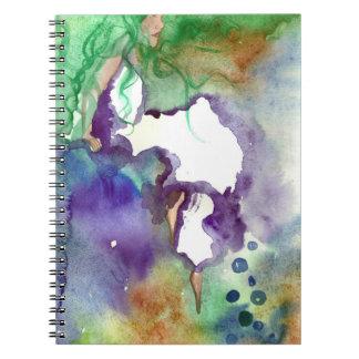 Nebel-Mädchen-Notizbuch Notizblock