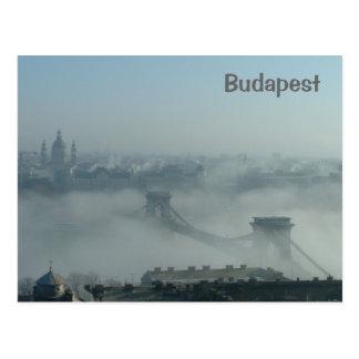 Nebel über der Donau Postkarte