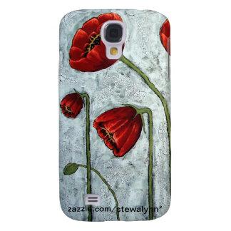 Nebelhafte Morgen-Mohnblumen Galaxy S4 Hülle