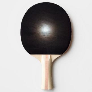 Nebelhaftes Vollmond-Klingeln Pong Paddel Tischtennis Schläger