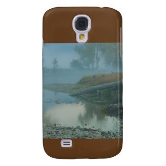 Nebeliger Bitterroot-Fluss-Morgen-Entwurf Galaxy S4 Hülle