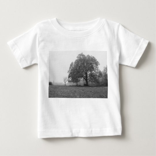 Nebeliger Herbst-MorgenGrayscale Baby T-shirt