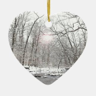 Nebenfluss - Winter Keramik Ornament