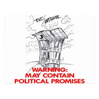 Nebengebäude kann politische Versprechen enthalten Postkarte