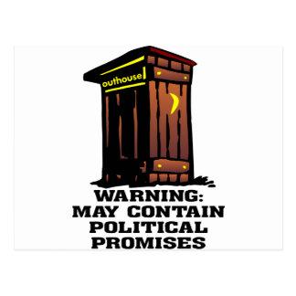 Nebengebäude kann politische Versprechen enthalten Postkarten